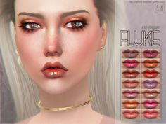 Fluke Lip Colour by Screaming Mustard for The Sims 4