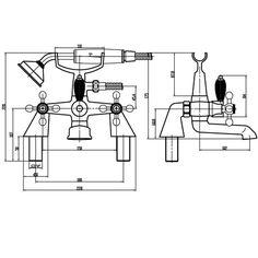Viscount Bath Shower Mixer Tap With Kit - Large Handset - Image 2 Bath Shower Mixer Taps, Bath Taps, Bathroom Taps, Viscount, 2nd Floor, Floor Plans, Kit, Luxury, Modern