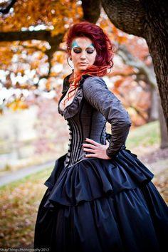 Steampunk Corset Jacket Dress