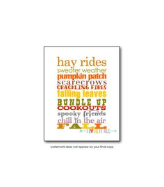 a nostalgic reminder in the subway art poster print style of the cooler days and colder nights of Fall and Autumn      DETAILS  a variety of phrases,