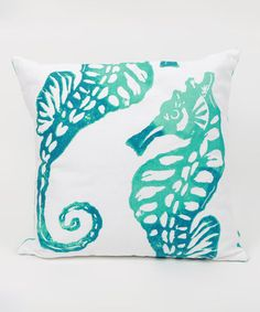 Love this Seahorse Throw Pillow by DEI on #zulily! #zulilyfinds