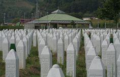 Gravestones at the Potočari genocide memorial near Srebrenica, Bosnia & Herzegovina