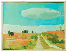 """Karen Smidth Danish Summer I Oil on board, hand framed by the artist. 13"""" x 10"""""""