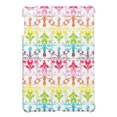 Colorful Girly Rainbow Pattern iPad Mini Cases