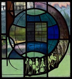 Image result for stained glass f w cole Beveled Glass, Mosaic Glass, Stained Glass, The Blitz, Grisaille, South London, Red Bricks, Glass Panels, Tower