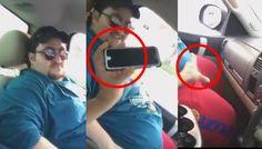 Homem joga telefone de gordo no carpete do carro e ele se desespera pra pegar