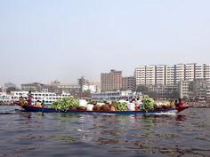 Beautiful Bangladesh: Freight of all kinds passes along the Buriganga River at Dhaka. Gypsum Decoration, Gypsum Wall, Dhaka Bangladesh, Ceiling Rose, Culture, River, Beautiful, Rivers