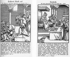 1521.DESIGN - Lucas Cranach the Elder illustrated for Martin Luther to highlight the corruption of the Catholic Church. This helped launch the Protestant Reformation in the West. Christ is shown suffering while the Pope is shown as living an opulent life.