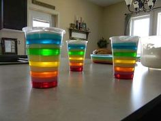 a cute idea for jello layers.