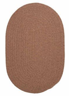 Bristol WL45 Mocha Braided Wool Rug by Colonial Mills
