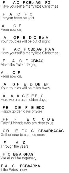 Flute Sheet Music: Have Yourself A Merry Little Christmas