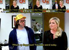 "30 Rock Season 1 Episode The Rural Juror. ""What's up flappy butt? You look weird today. Tracy Jordan, 30 Rock, Movie Stars, 30th, Netflix, Nostalgia, Weird, Season 1, Movies"