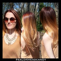 Red-brown to light blonde ombré perfection on beautiful long hair! #salonheadcandy #wellahair #redhair #talent #inspiration #ombre #pretty #awesome #salonlife #southjersey #follow #hairstylists #hairstyling #haircolor #happy #longhair #bumbleandbumble #beautiful #blondehair #blonde #njhair #nofilter #makeover #lpweeklydo #modernsalon