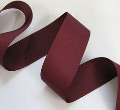 1 1/2 Grosgrain Ribbon, Polyester: Wine