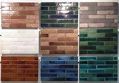 "White brick-seneca tile Glacier Blend 2.5 x 8"" in white for all exposed walls"