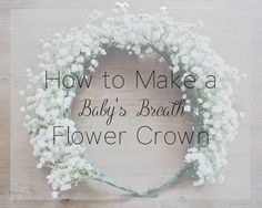 Flower crowns are such a pretty way to incorporate flowers into your special event or photoshoot, and by using all the same flowers like baby's breath, you'll have a uniform look that is relatively easy to make…