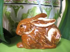 Vintage Goebel Brown Rabbit Porcelain Figurine c by EtsyBetsyBits