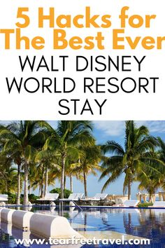 The next time you stay in a Walt Disney World resort, follow these five hacks to have the best Disney hotel experience ever. These easy to follow hacks will make your Disney World Resort stay that much better. You can really improve your Disney World resort experience by doing some simple things. While planning your vacation, keep these easy tips in mind to enhance your Disney Resort stay. Packing List For Disney, Disney Cruise Tips, Disney World Vacation, Disney World Resorts, Disney Vacations, Walt Disney World, Best Disney Hotels, Disney Food, Simple Things