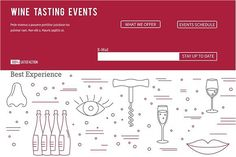 Wine industry Web landing page . Human Icons. $2.00