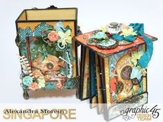 Voyage Beneath The Sea Top Load Mini Album, Tutorial by Alexandra Morein, Product by Graphic 45