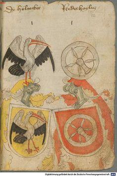 Ortenburger Wappenbuch Bayern, 1466 - 1473 Cod.icon. 308 u  Folio 32r