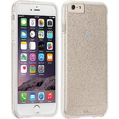 Case-Mate Sheer Glam for Apple iPhone 6 Plus - Clear / Champagne   Verizon Wireless - Verizon Wireless