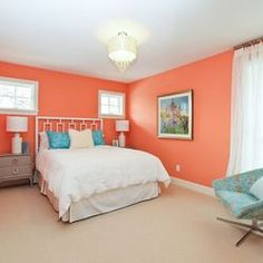 Never thought I liked colors like this, but it's beautiful! So calming.  Maybe add some deep teal for an accent? Benjamin Moore Coral Spice 2170-40