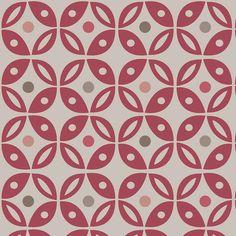 Warwick Fabrics : COLUMBUS (PNM) CRIMSON