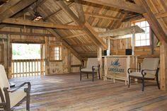 Barn Loft - Entertaining Area!    www.sandcreekpostandbeam.com  https://www.facebook.com/pages/Sand-Creek-Post-Beam-Traditional-Post-Beam-Barn-Kits/66631959179