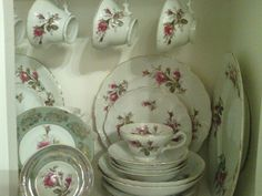Moss Rose China by Japan   Moss Rose -Royal Sealy China (Japan)   cup and saucer collection