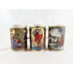 Dunoon Stoneware Christmas Party Mug- Scotland Set of 3 ($35) ❤ liked on Polyvore featuring home, kitchen & dining and drinkware