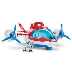 The Paw Patrol Air Patroller is both a plane and helicopter that allows kids to transport the pups to the scene of the latest rescue in Adventure Bay. Paw Patrol Pups, Los Paw Patrol, Preschool Toys, Toddler Preschool, Paw Patrol Weihnachten, Paw Patrol Christmas, Party Set, Lego, Christmas Toys