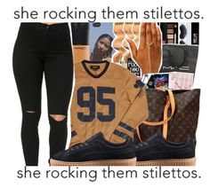 """JERSEY 🐻"" by oh-thatasia ❤ liked on Polyvore featuring MAC Cosmetics and Puma"