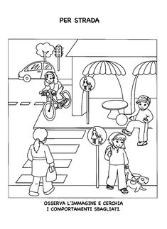 Kindergarten, Transportation Theme, Health And Safety, Coloring Pages, Preschool, Paper Crafts, Black And White, Creative Activities, Literacy Activities
