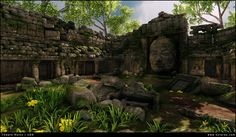 Temple Ruins - UDK Environment [SUPER IMAGE HEAVY] Jungle Temple, Temple Ruins, Super Images, Game Environment, Mount Rushmore, Art Gallery, Mountains, Architecture, Travel