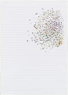 Hayley Tompkins. Untitled. 2001. Watercolor on notebook paper