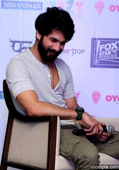 A candid photograph of Shahid Kapoor. via Voompla.com