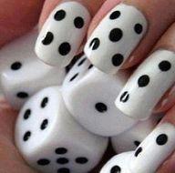 dice nails!  Vegas nails