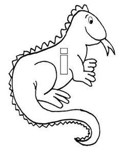 Iguana Coloring Page