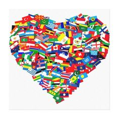 Global heart canvas print make for VBS answers in genesis