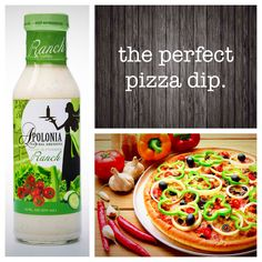 There's something pretty amazing about dipping your pizza crust, and we'd bet the ranch on it.  www.apoloniadressing.com