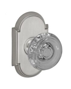 Hampton Door Knob Set with Oval Rosettes Privacy Passage and