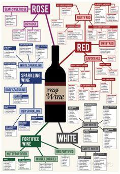 Types of Wine Chart - Poster på AllPosters.se