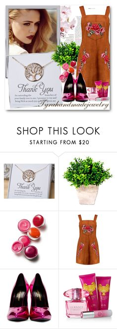"""""""tyrahandmadejewelry 1"""" by fashionmonsters ❤ liked on Polyvore featuring Clinique, Boohoo, Yves Saint Laurent, Versace and modern"""