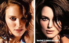 Natalie Portman vs Keira Knightley I have no idea who is who! Celebrity Look Alike, Awkward Girl, Fairest Of Them All, Young Actresses, Keira Knightley, Natalie Portman, Celebs, Celebrities, Girl Crushes