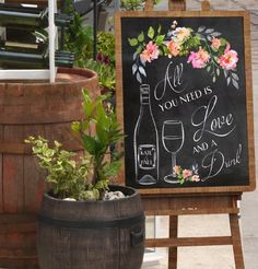 Amazon.com: Wedding Bar Sign - Chalkboard Sign - Reception Sign - Personalized Art Print: Handmade