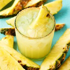 Pineapple-Cinnamon Margaritas -  Try life on the tropical side with our sweetly spiced margarita. More margarita recipes: http://www.bhg.com/recipes/drinks/wine-cocktails/margarita-recipes/