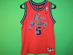 d5c58d90 Jason Kidd New Jersey Nets Boys' Youth Size M Medium Nike Team NBA Jersey