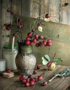 crab apples...