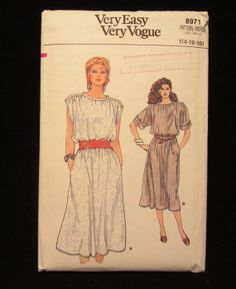 Items similar to -Vintage Vogue Pattern Misses Dress-Size on Etsy Vintage Vogue Patterns, 1980s, Baseball Cards, Trending Outfits, Unique Jewelry, Handmade Gifts, Etsy, Kid Craft Gifts, Craft Gifts